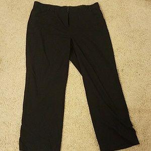 Sag harbor stretch  black womens dress pants